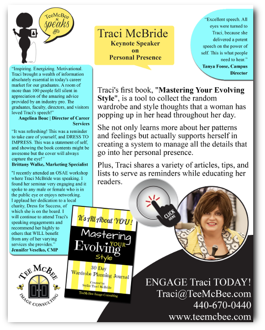 Mastering Your Evolving Style - Book onesheet
