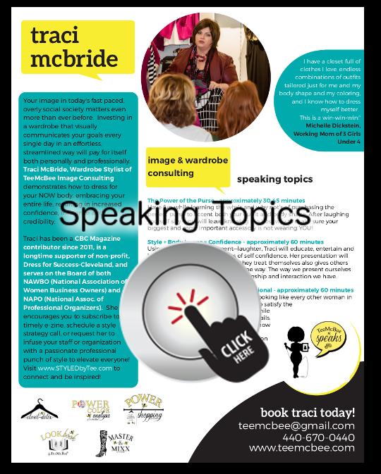 Tee McBee speaking topics